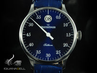 Meistersinger Salthora Automatic Watch, 40mm. ETA 2824-2, Leather strap, SH908