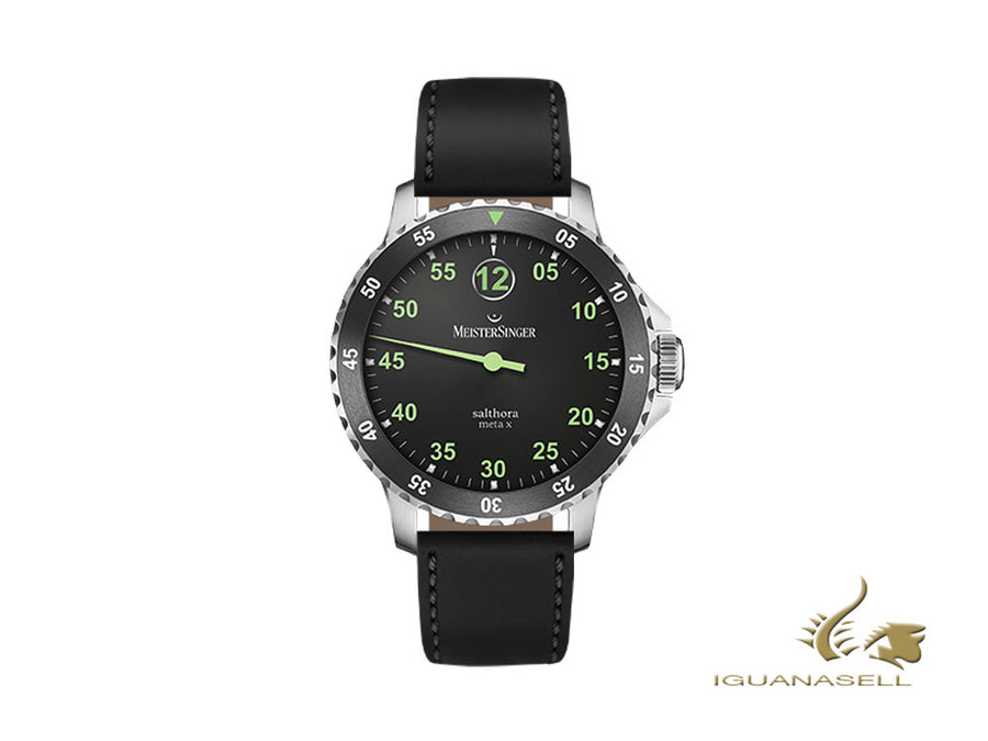 Meistersinger Salthora Meta X Automatic Watch, ETA 2824-2, Black, Shell cordovan Meistersinger Automatic Watch