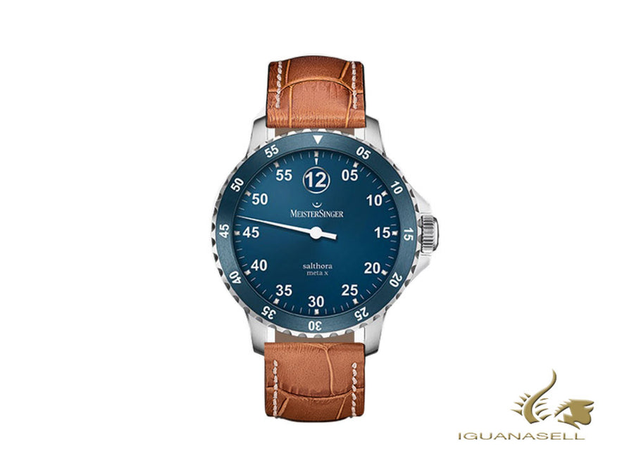 Meistersinger Salthora Meta X Automatic Watch, ETA 2824-2, Blue/Cognac, 20 atm Meistersinger Automatic Watch