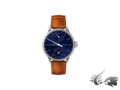 Meistersinger Singulator Watch, Manual winding, Blue, MS.0109, 43mm.