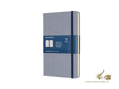 Moleskine Blend Collection Limited Edition Notebook, Large, Ruled, Blue