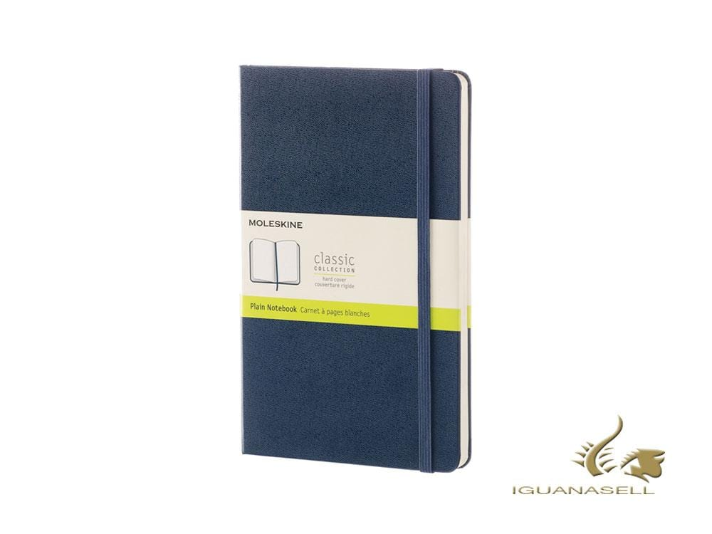 Moleskine Hard cover Notebook, Large (13 x 21 cm), Plain, Blue, 240 pages Notebook