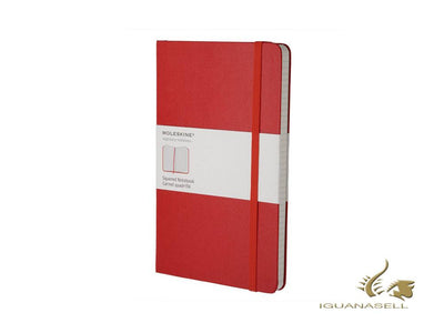 Moleskine Hard cover Notebook, Large (13 x 21 cm), Squared, Red, 240 pages