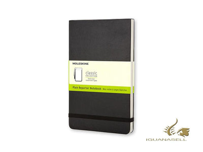 Moleskine Hard cover Notepad, Pocket (9 x 14 cm), Plain, Black, 192 pages, QP513