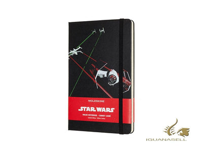 Moleskine Limited Edition Star Wars Tie Fighter Notebook, Large, Ruled, Black
