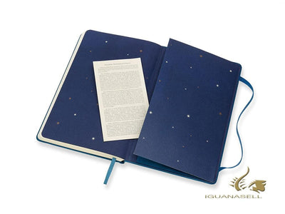 Moleskine Peter Pan Limited Edition Notebook, Large (13 x 21 cm), Ruled, Blue