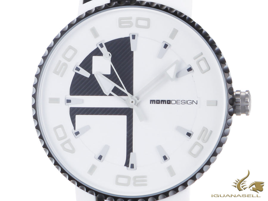 Momo Design Jet Aluminium Quartz watch, Chronograph, 43mm. SIlicon strap Momo Design Quartz Watch