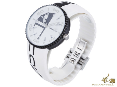 Momo Design Jet Aluminium Quartz watch, Chronograph, 43mm. SIlicon strap