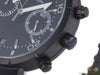 Momo Design Jet Black Chrono Quartz Watch, Stainless Steel 316L, PVD, 43mm