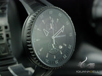 Momo Design Jet Black Quartz watch, Cronograph, 43mm.