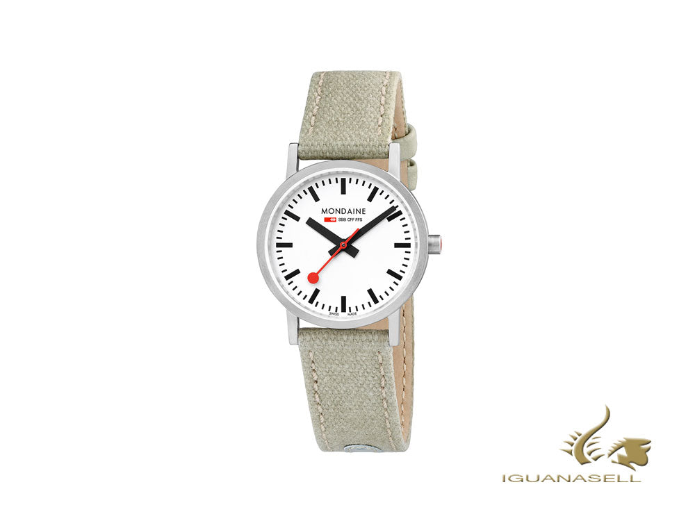 Mondaine Classic Quartz Watch, White, 30mm, A658.30323.16SBG