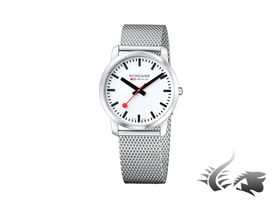 Mondaine SBB Simply Elegant Quartz watch, Ronda 783, 41mm, A638.30350.16SBM Mondaine Quartz Watch