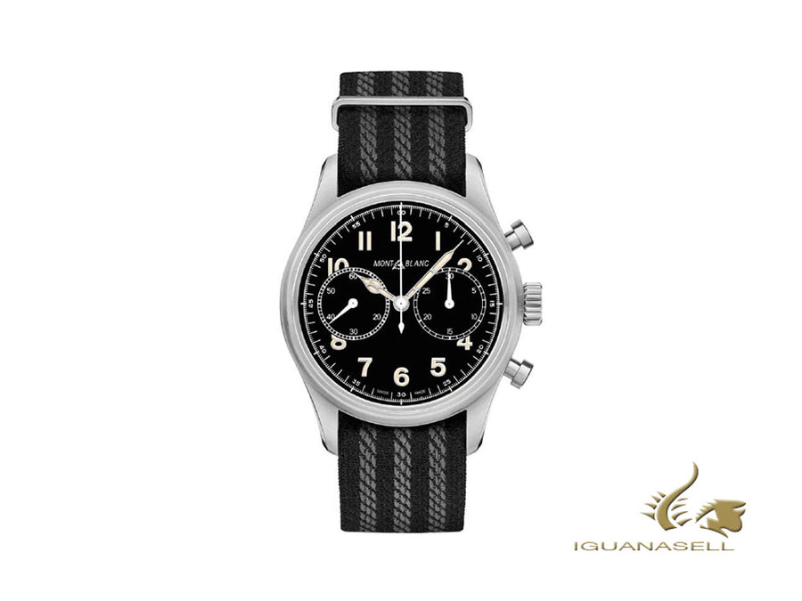 Montblanc 1858 Automatic Watch, Black, 42 mm, Chronograph, Nato, 117835 Montblanc Automatic Watch