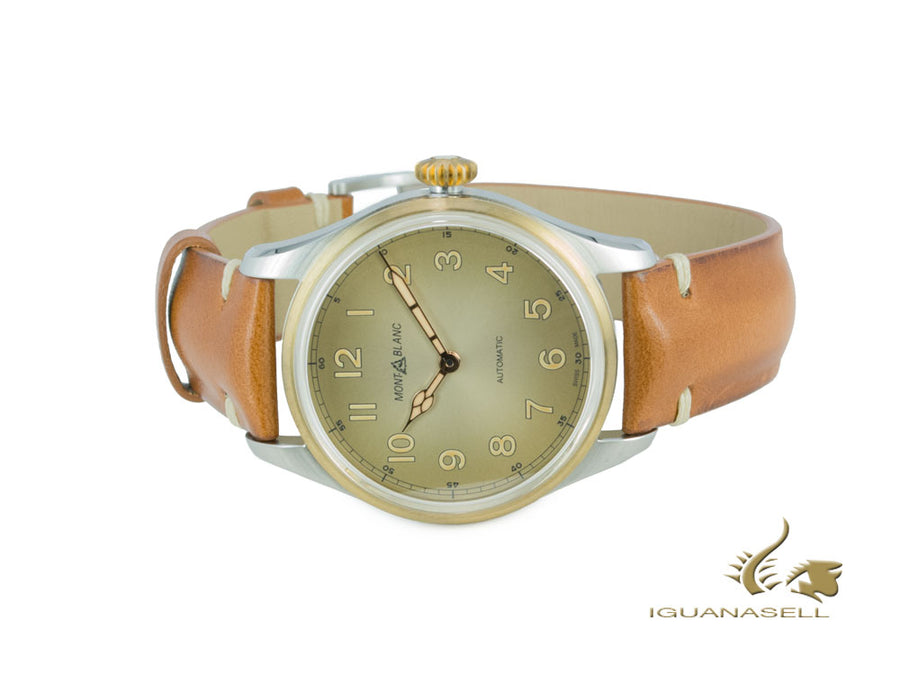 Montblanc 1858 Automatic Watch, Bronze, Champagne, 40 mm, Leather strap, 119065 Montblanc Automatic Watch