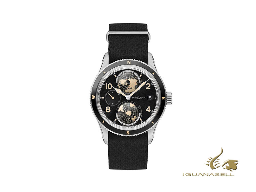 Montblanc 1858 Geosphere Automatic Watch, Black, 42 mm, Nato, 117837 Montblanc Automatic Watch