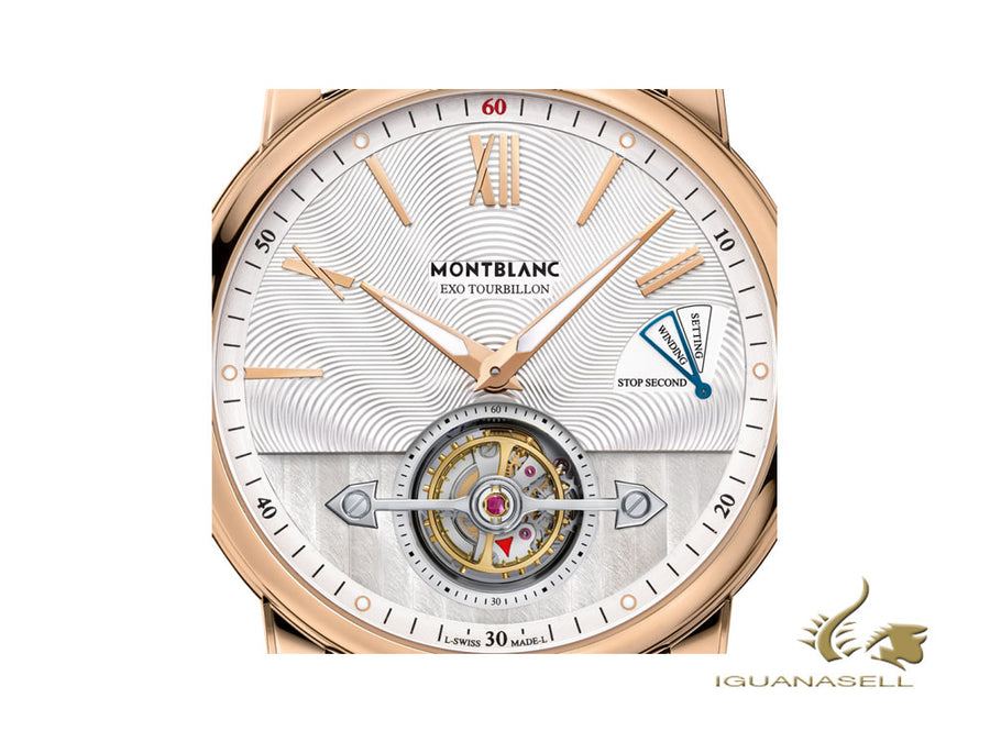 Montblanc 4810 ExoTourbillon Slim Automatic Watch, MB 29.21, 42mm, Red Gold Montblanc Automatic Watch