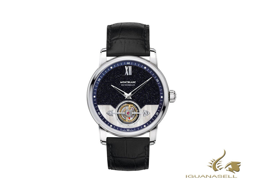 Montblanc 4810  ExoTourbillon Slim Automatic Watch, White Gold 18K, 42mm, Blue Montblanc Automatic Watch