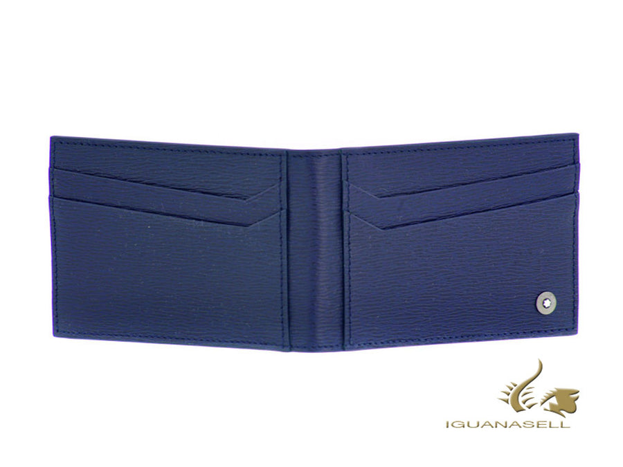 Montblanc 4810 Westside Credit card holder, Leather, Blue, 8 Cards, M118661 Montblanc Credit card holder