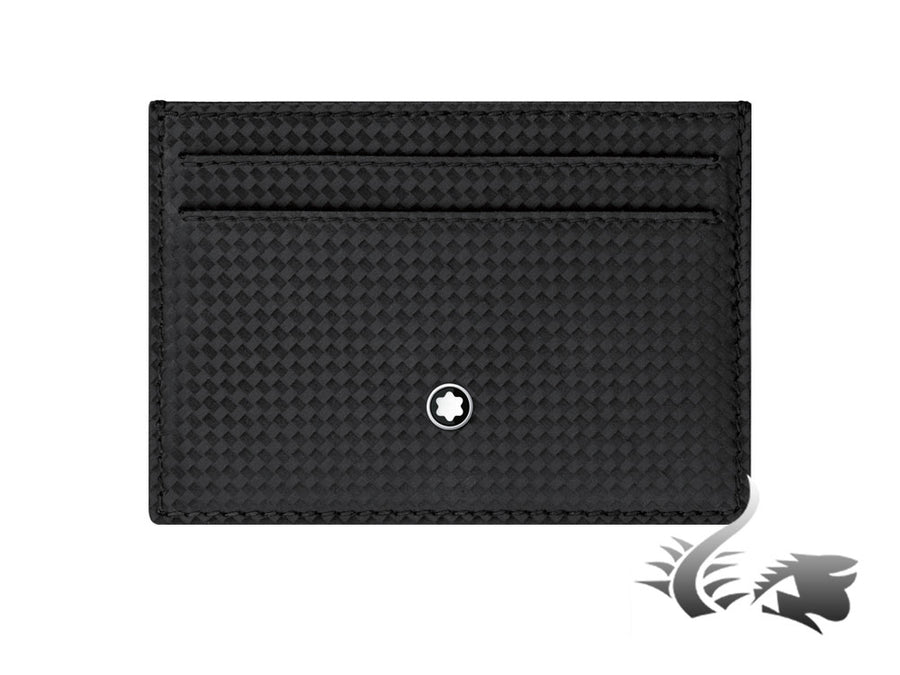 Montblanc Extreme Credit card holder, Leather, Cotton, Black, 5 Cards, 114638