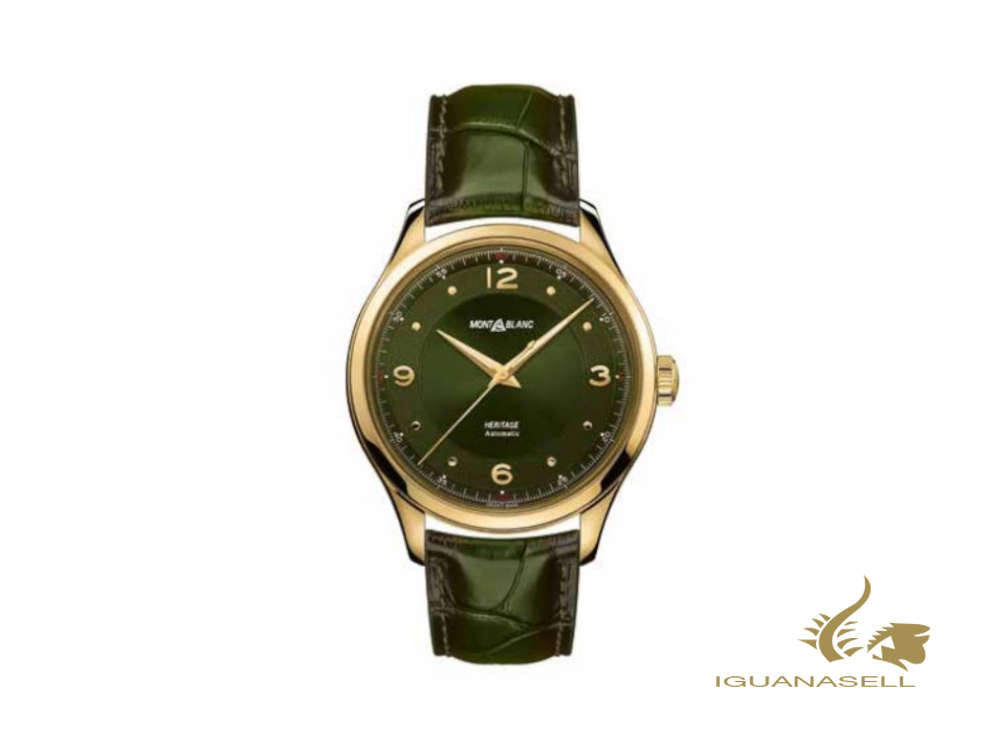 Montblanc Heritage Automatic Watch, Green, 40 mm, Alligator Band, 126464