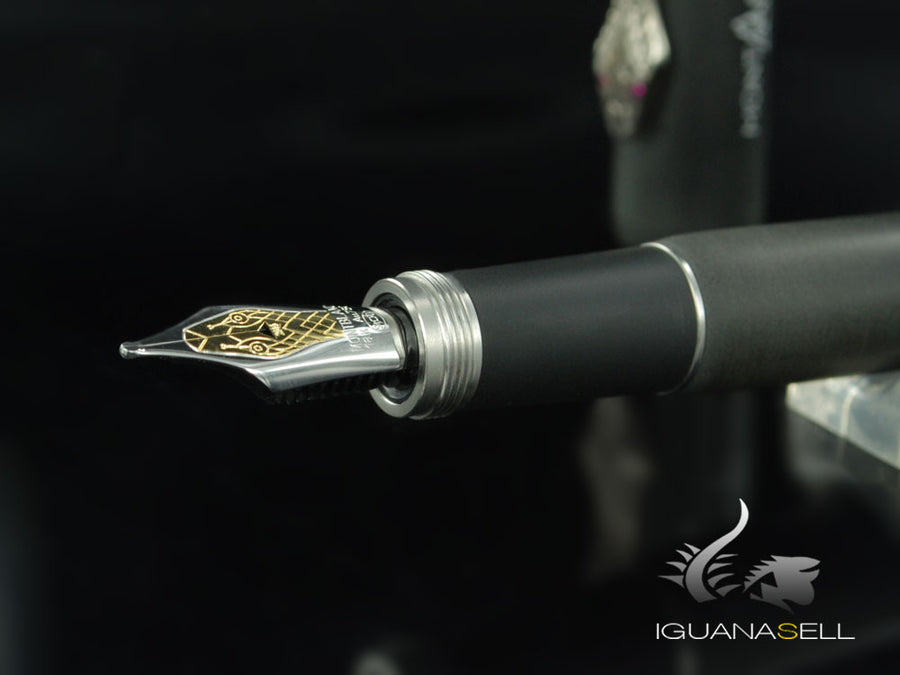 Montblanc Heritage Rouge & Noir Fountain Pen, Limited Edition, 114728 Montblanc Fountain Pen