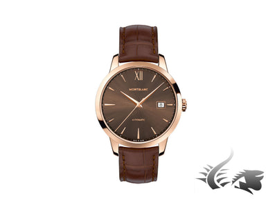 Montblanc Heritage Spirit Date Automatic Watch, 18Kt Rose gold, Brown, 111875