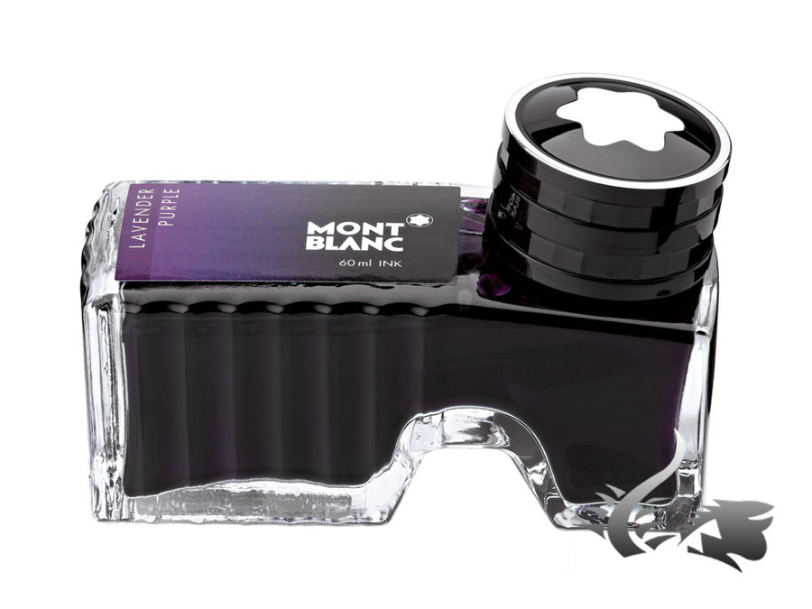 Montblanc Ink Bottle Lavender Purple, 60ml, Crystal, 105196 Montblanc Ink Bottle