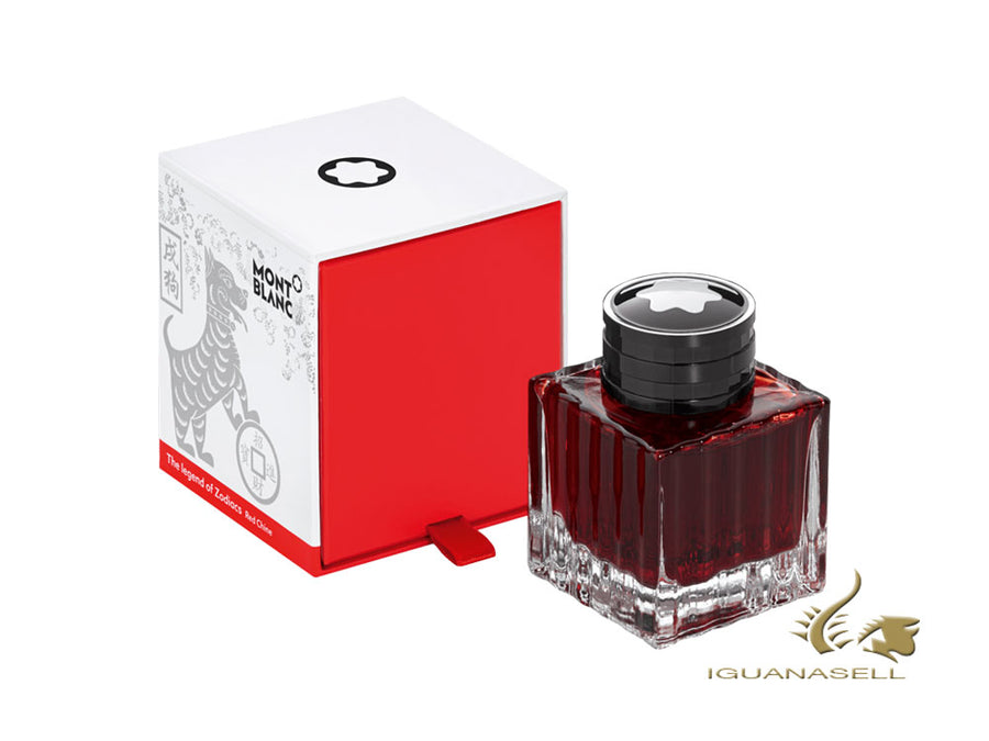 Montblanc Ink Bottle The legend of Zodiacs The Dog, Red, 50ml, Crystal, 116404