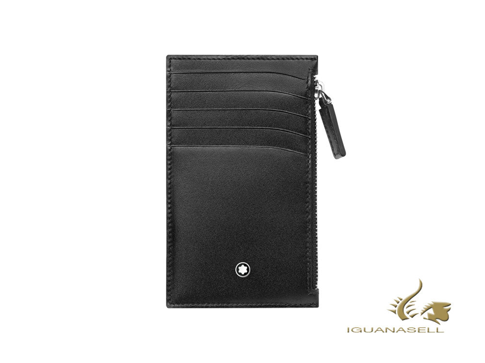 Montblanc Meisterstück Credit card holder, Black, 5 Cards, Coin Case, 118313