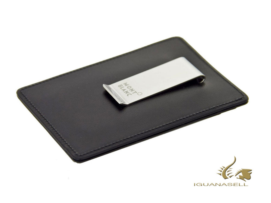 Montblanc Meisterstück Credit card holder, Leather, Black, 2 Cards, 107346 Montblanc Credit card holder