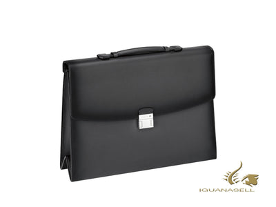 Montblanc Meisterstück Selection Sfumato Briefcase, Leather, Grey, 113157
