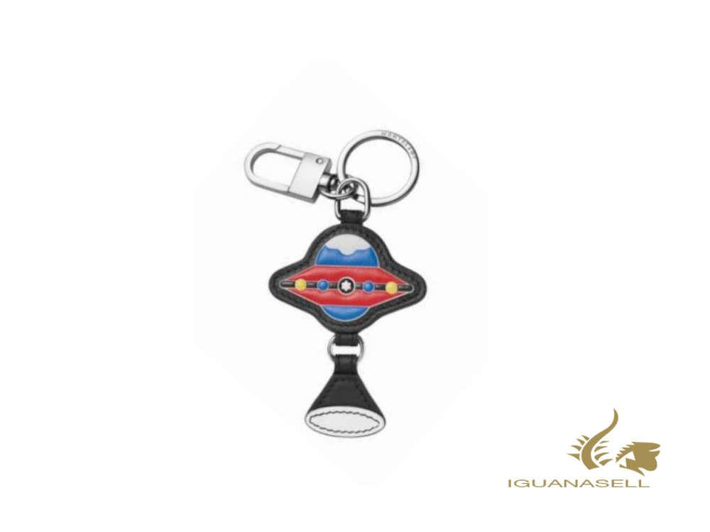 Montblanc Meisterstück Soft Grain Red UFO Key ring, Steel, Leather, Red, 127380
