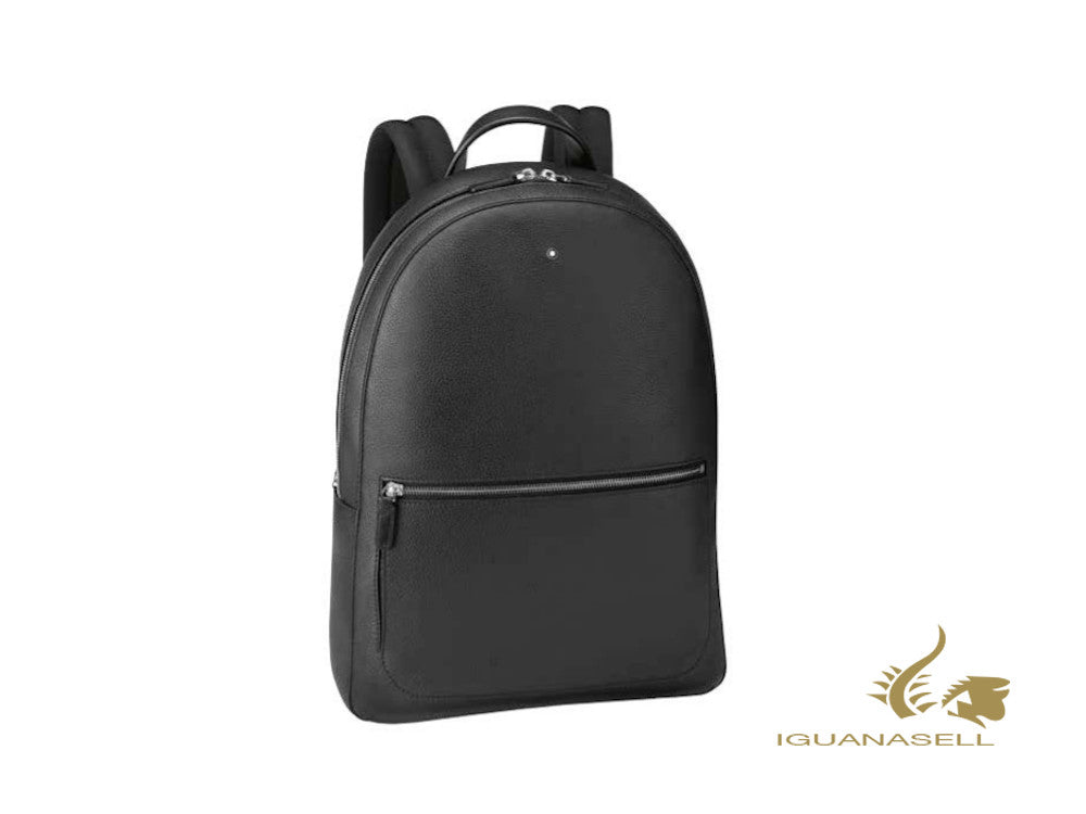 Montblanc Meisterstück Soft Grain Slim Backpack, Leather, Black, Zip, 126235