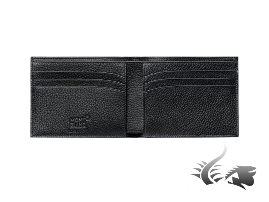 Montblanc Meisterstück Soft Grain Wallet, Black, Leather, Cotton, 6 Cards Montblanc Wallet