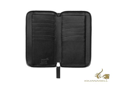 Montblanc Meisterstück Wallet, Black, Leather, 12 Cards, Zip, 118304