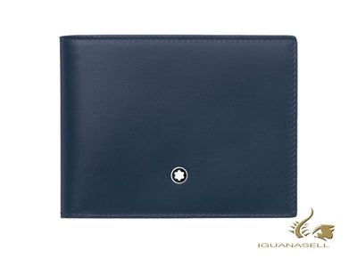 Montblanc Meisterstück Wallet, Black, Leather, Jacquard, 6 Cards, 118293