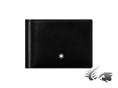 Montblanc Meisterstück Wallet, Black, Leather, Jacquard, 6 Cards, 5525