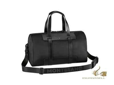 Montblanc Nightflight Cabin bag 45, Nylon, Leather, Black, Zip, 113132