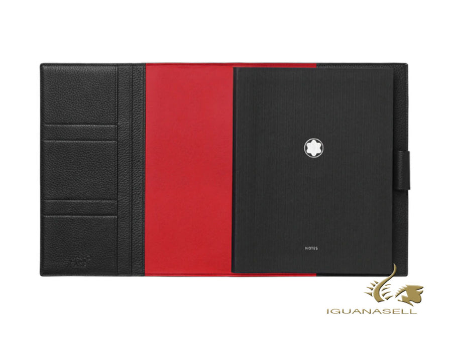 Montblanc Notebook, Ruled, Calfskin Leather, Red/Black, 248 pages, 124127 Montblanc Notebook