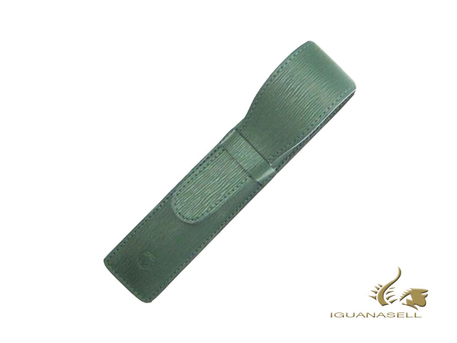 Montblanc Pen Case, 1 Writing Instrument, Leather, Soft, Green, 48007