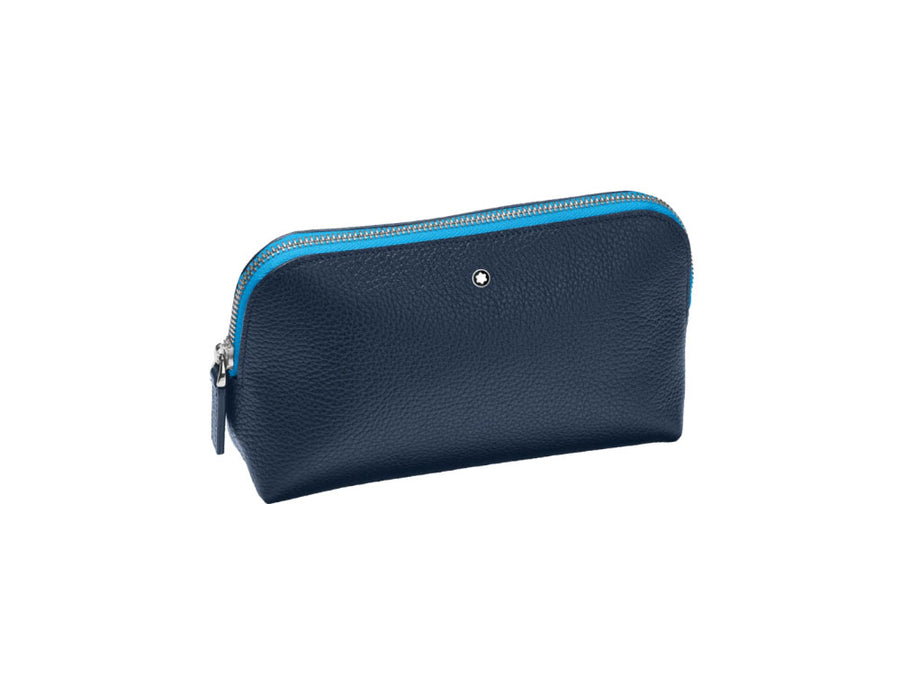 Montblanc Pen Case, Leather, Blue, 124123 Montblanc Pen Case