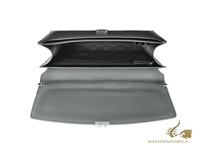 Montblanc Sartorial Briefcase, Leather, Jacquard, Grey, With button, 113179