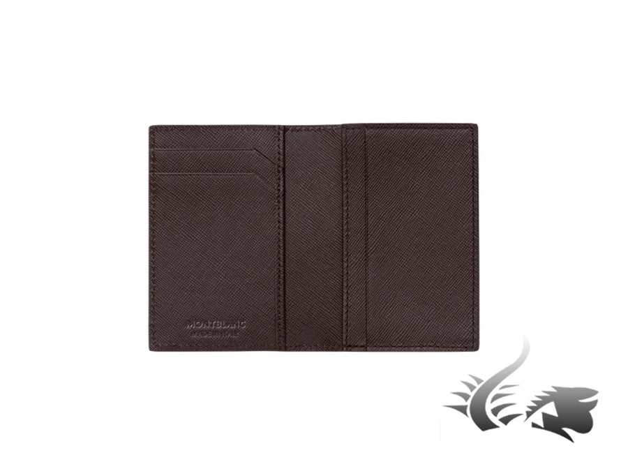 Montblanc Sartorial Credit card holder, Leather, Jacquard, Brown, 3 Cards Montblanc Credit card holder