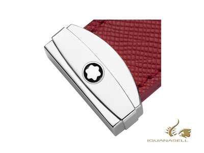 Montblanc Sartorial Key Ring, Red, Brass, Leather, 1 Ring, 118694