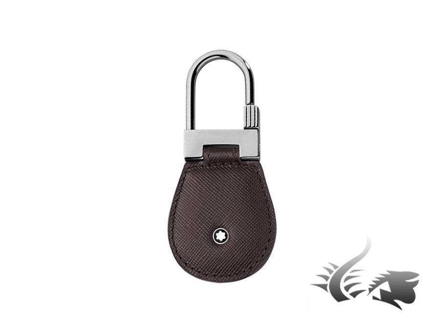 Montblanc Sartorial Key ring, Brass, Leather, Brown, 1 Ring, 113239 Montblanc Key ring