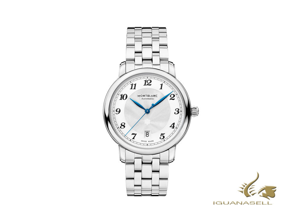 Montblanc Star Legacy Automatic Watch, 39 mm, White, Steel bracelet, 117323