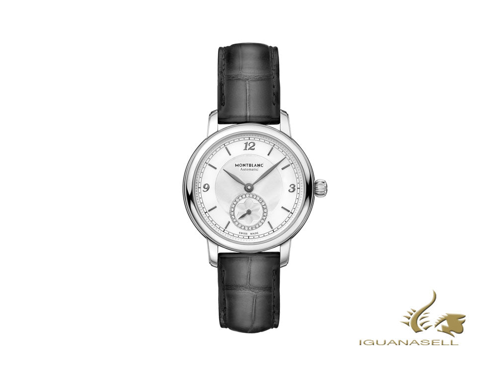 Montblanc Star Legacy Lady Automatic Watch, 32 mm, White, Cayman Strap, 118536