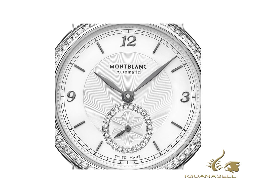 Montblanc Star Legacy Lady Automatic Watch, 32 mm, White, Diamonds, 118533