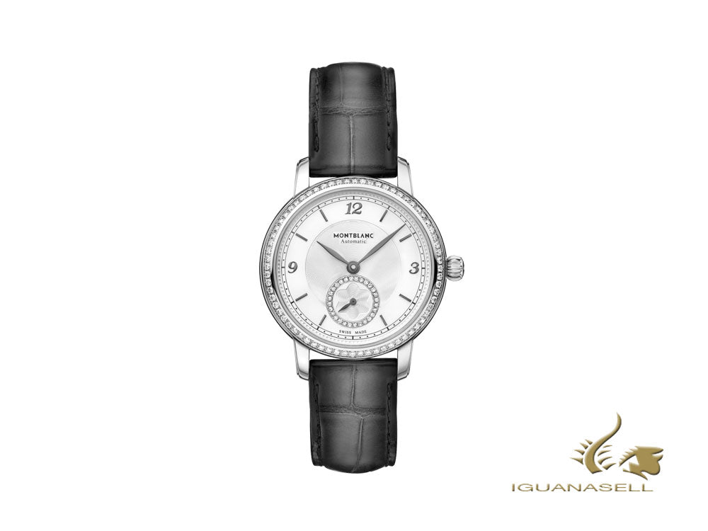 Montblanc Star Legacy Lady Automatic Watch, 32mm, White, Diamond, Cayman, 118534