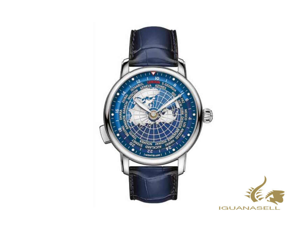 Montblanc Star Legacy Orbis Terrarum Automatic Watch, 43 mm, Blue, 126108